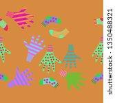 horizontal pattern of mittens ... | Shutterstock . vector #1350488321