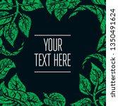 green grunge vector background  ... | Shutterstock .eps vector #1350491624