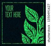 green grunge vector background  ... | Shutterstock .eps vector #1350491627