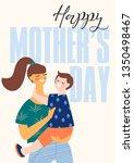 happy mothers day. vector...   Shutterstock .eps vector #1350498467
