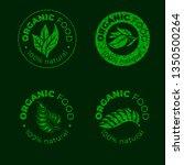 vector green design element for ... | Shutterstock .eps vector #1350500264