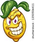 evil cartoon lemon with big... | Shutterstock .eps vector #1350506411
