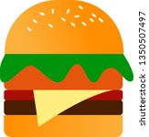 burger with a strong spicy... | Shutterstock .eps vector #1350507497