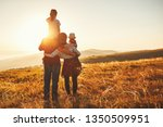 happy family  mother  father ... | Shutterstock . vector #1350509951