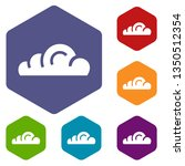 app cloud icons vector colorful ...
