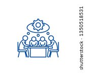 brainstorming line icon concept.... | Shutterstock .eps vector #1350518531