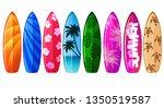 Set Of Surfboard Graphic Vector
