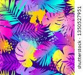 fashion tropics funny... | Shutterstock .eps vector #1350527951