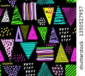 vector geometric neon pattern...   Shutterstock .eps vector #1350527957