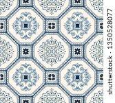 talavera pattern.  azulejos... | Shutterstock .eps vector #1350528077