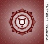 transgender icon inside red... | Shutterstock .eps vector #1350528767