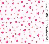 doodle hearts vector seamless... | Shutterstock .eps vector #1350533744