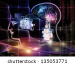 arrangement of outline of human ... | Shutterstock . vector #135053771