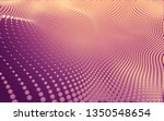 abstract polygonal space low... | Shutterstock . vector #1350548654