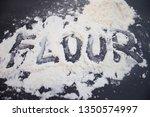 flour on black background | Shutterstock . vector #1350574997