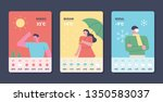 weather forecast card. app page ... | Shutterstock .eps vector #1350583037