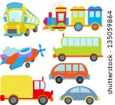 cute transportation vehicle... | Shutterstock .eps vector #135059864