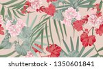 botanical seamless pattern ... | Shutterstock .eps vector #1350601841