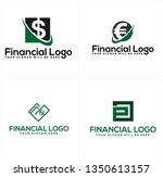 black green line art swash... | Shutterstock .eps vector #1350613157