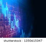 financial stock market graph...   Shutterstock . vector #1350615347