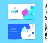 liquid color name card vector | Shutterstock .eps vector #1350624467