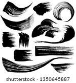 set of brush stroke... | Shutterstock .eps vector #1350645887