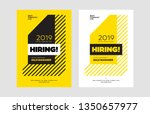 hiring announcement vector... | Shutterstock .eps vector #1350657977