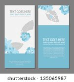 floral brochure card design | Shutterstock .eps vector #135065987