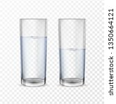 realistic glasses for drinks... | Shutterstock .eps vector #1350664121