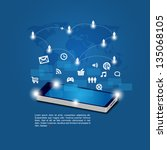 mobile phones technology... | Shutterstock .eps vector #135068105
