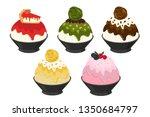 vector illustration of bingsu... | Shutterstock .eps vector #1350684797