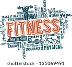 fitness and healthy exercise... | Shutterstock .eps vector #135069491
