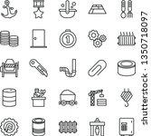 thin line vector icon set  ...   Shutterstock .eps vector #1350718097