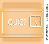 text sign showing quizquestion. ... | Shutterstock . vector #1350718817