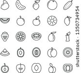 thin line vector icon set  ... | Shutterstock .eps vector #1350734954