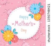 vector of happy mother's day...   Shutterstock .eps vector #1350748421