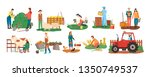 people at farm vector  farmers... | Shutterstock .eps vector #1350749537