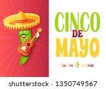 cinco de mayo festival  mexican ... | Shutterstock .eps vector #1350749567