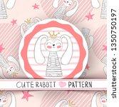 Cute Seamless Pattern   Rabbit...