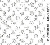 line style communication... | Shutterstock .eps vector #1350755444