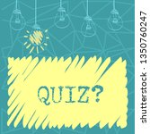 handwriting text quizquestion.... | Shutterstock . vector #1350760247