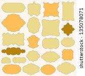 set of vintage simple paper... | Shutterstock .eps vector #135078071