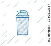 blue fitness shaker line icon... | Shutterstock .eps vector #1350813857