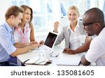 group of friendly... | Shutterstock . vector #135081605