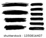 set of paint texture elements... | Shutterstock .eps vector #1350816407