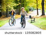 urban biking   teens and bikes... | Shutterstock . vector #135082805