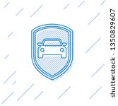 blue car protection or... | Shutterstock .eps vector #1350829607