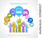 social media generation  vector ... | Shutterstock .eps vector #135084227