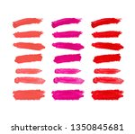 set of red  pink and living... | Shutterstock . vector #1350845681