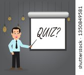 word writing text quizquestion. ... | Shutterstock . vector #1350849581
